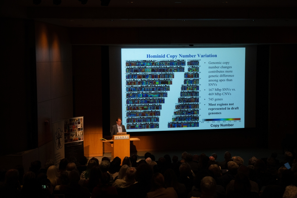 Evan Eichler (Univ of Washington) speaking on Comparative Genomics