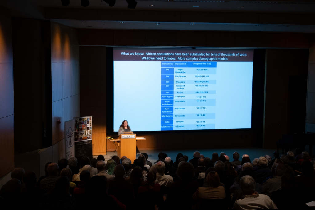 Sarah Tishkoff (Univ of Pennsylvania) speaking on Human population genetics and origins