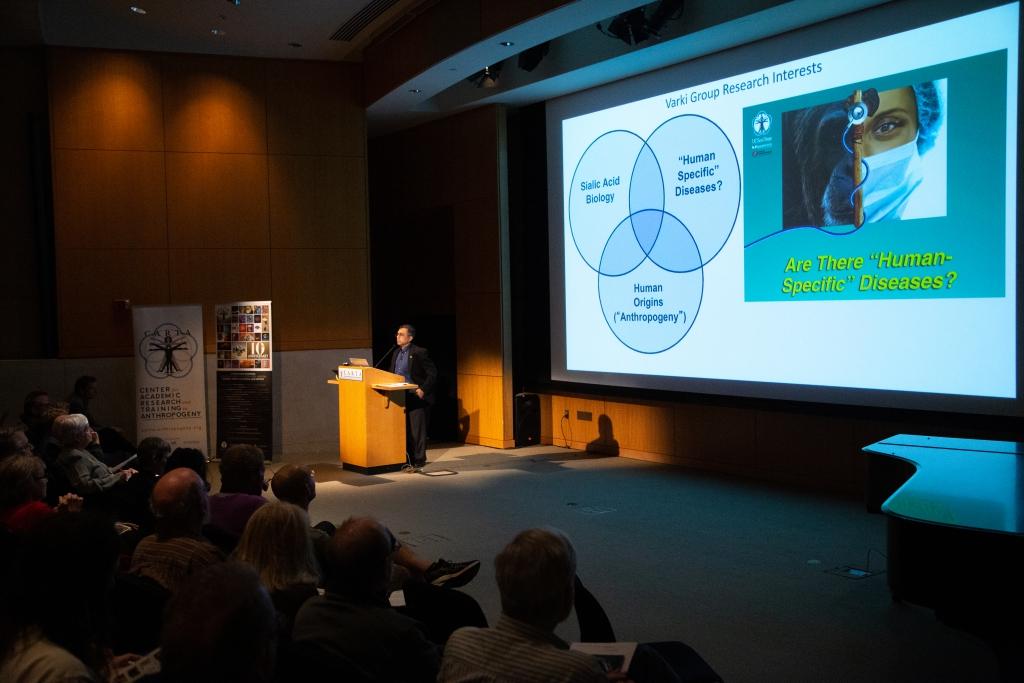 Ajit Varki (UC San Diego) speaking on Comparative Medicine