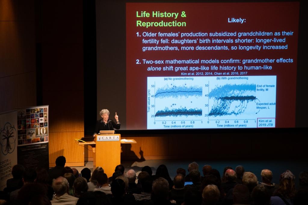 Kristen Hawkes (University of Utah) speaking on Hunter-Gatherers/ Life History & Reproduction