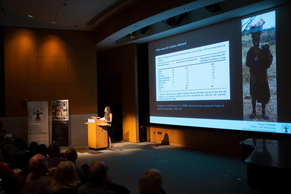 Alyssa Crittenden (University of Nevada, Las Vegas) speaking on Parenting and Child Development